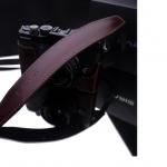 Gariz Leather Neck Strap : Brown