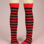 Red & Black Stripe Stocking