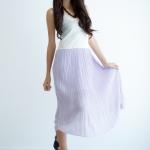 Maxi Pleat Dress - Lilac