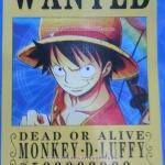 โปสเตอร์ Wanted วันพีช ชุด 8 ใบ Ver. Anime