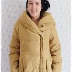((ขายแล้วครับ))((จองแล้วครับ))ca-2905 เสื้อโค้ทขนเป็ดสีเหลืองมัสตาร์ด รอบอก40
