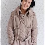 ((ขายแล้วครับ))((คุณNEWจองครับ))ca-2899 เสื้อโค้ทขนเป็ดสีเบจ รอบอก42