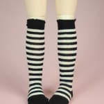 Black & White Stripe Stocking