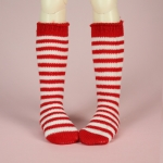 Red & White Stripe Stocking