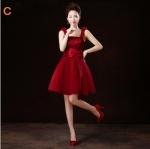 (เช่าชุดราตรี-สุขุมวิท105) ชุดราตรี <สีแดงเลือดหมู> รหัสสินค้า LS-CEVS0113 (แบบ C)