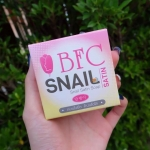 BFC Snail Satin Soap 70 g. บีเอฟซี สบู่สเนลซาติน สบู่เมือกหอยทาก