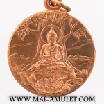 เหรียญวชิรมกุฎ ปางปฐมเทศนา เนื้อทองแดง วัดมกุฎฯ กทม. ปี 2519 สวยครับ (407) [g-p]