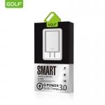 ที่ชาร์จไฟ Quick Charge 3.0 USB x 1 ช่อง ยี่ห้อ GOLF GF-U206Q (US Plug)