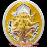 ..สำหรับคนเกิดวันจันทร์..พระพิฆเนศวร์..ชุบสามกษัตริย์ ลงยาสีเหลือง กรมศิลปากร ปี 2547 (569) ..U..