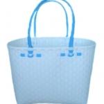 กระเป๋ากลาง ตัวขาว หูสีฟ้า (ATM-F3)