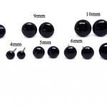 ลูกตาแก้วก้านเสียบ มี 9 ขนาด 2mm,3mm ,4mm,5mm,6mm,7mm,8mm,9mm,10mm/คู่
