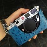 Case กล้อง VR Leica M6 Blue Ostrich