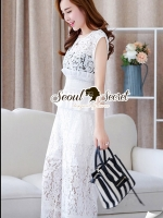 Seoul Secret Smocking Lace Luxy Set