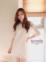 Icevanilla White Lace Dress