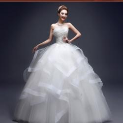(Pre-Order) ชุดแต่งงานคนอ้วน <เกาะอก> รหัสสินค้า PSWDL0045
