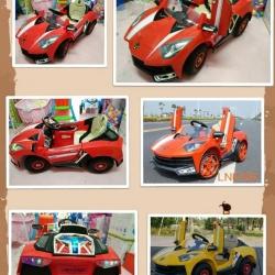 รถแบตเตอรี่เด็กนั่งแลมโบกีนี สีเหลือง ส้ม แดง