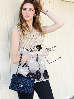 Seoul Secret Cami Lace Knit Chic