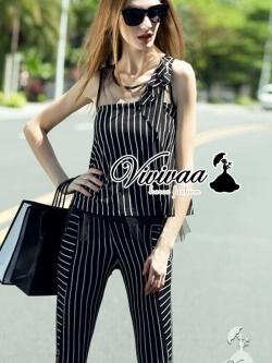 Vivivaa Stripy Set ชุดเซ็ทเสื้อกับกางเกง