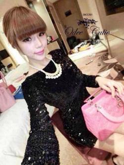 Sparkling Black Dress เดรสสีดำ ปักเลื่อม สุดไฮโซ