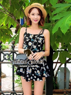 Seoul Secret Lovely Daisy Skirt-Short PlaySuit