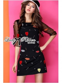 Lady Ribbon Pretty Surreal Embellished Dress