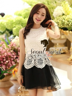 Seoul Secret Organdy Dress Cami-Skirt Adjacent