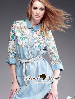 Seoul Secret Denim Shirt เดรสเชิ้ต