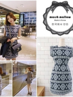 Marsh Mallow Ethnic Style Dress