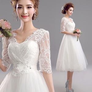 (เช่าชุดราตรี) ชุดแต่งงาน <สีขาว> รหัสสินค้า EK_WDS0084