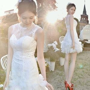 (เช่าชุดราตรี) ชุดแต่งงาน <สีขาว> รหัสสินค้า EK-WDS0088