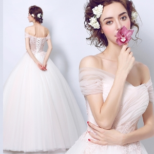 (Pre-Order) ชุดแต่งงาน <ไหล่ปาด> รหัสสินค้า WDL0838