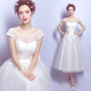 (เช่าชุดราตรี) ชุดแต่งงาน <สีขาว> รหัสสินค้า EK_WDS0137