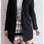 ((ขายแล้วครับ))((คุณJAHจองครับ))ca-2701 เสื้อโค้ทกันหนาวผาวูลสีดำเทา รอบอก38 thumbnail 3