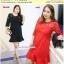 Preorder ชุดเดรสไซส์ใหญ่ สีดำ แดง XL-4XL thumbnail 1