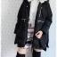 ((ขายแล้วครับ))((คุณพัณณ์นิญาจองครับ))ca-2648 เสื้อโค้ทกันหนาวผ้าร่มขนเป็ดสีดำ รอบอก44 thumbnail 3