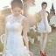 (เช่าชุดราตรี) ชุดแต่งงาน <สีขาว> รหัสสินค้า EK-WDS0088 thumbnail 1