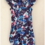 ASOS Floral Cap Sleeve Dress Size uk8 thumbnail 2