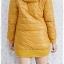((ขายแล้วครับ))((คุณYorจองครับ))ca-2611 เสื้อโค้ทกันหนาวผ้าร่มสีเหลืองมัสตาร์ด รอบอก37 thumbnail 2