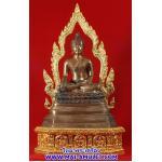 พระชัยสิริวัฒน์ องค์พระ เนื้อนวโลหะ ซุ้มเนื้อโลหะปิดทอง วัดสุทัศน์ฯ ปี 2535 สวยครับ