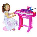 Electronic Keyboard อัดเสียงได้ สีขมพู