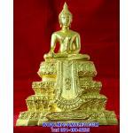 ..โค้ด ๒๙๒๐..พระพุทธสิงหธรรมมงคล 3 นิ้ว (2 ถอด) โลหะปิดทอง อัญเชิญอักษรพระปรมาภิไธย ภปร. มาประดิษฐานไว้ทีผ้าทิพย์ พุทธสมาคมจัดสร้าง ปี 47 สวยครับ