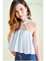 Charmer Blue Crop Top