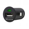 หัวชาร์จในรถ มาตรฐาน belkin 1.0 แอมป์ (สีดำ)