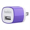 หัวชาร์จบ้าน belkin 1.0 แอมป์ (สีม่วง)