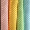 ผ้าสักหลาดเกาหลี พิมพ์ลาย Dot มี 6 สี size 1mm ขนาด 42x30 cm (พร้อมส่ง)