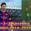 แผน FIFA ONLINE 3 - Barcelona 4-3-3 ชุดทริปเปิลแชมป์ 2014-2015 (ดาวทอง)