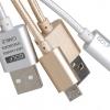 สายชาร์จแบบถักอย่างดี Micro USB สำหรับมือถือสมาร์ทโฟนทั่วไป ยี่ห้อ GOLF