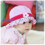 หมวกเด็กเล็ก (มีระบาย ติดดอกไม้)