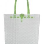 กระเป๋า ก้นเหลี่ยม หูสีเขียวตองอ่อน (AU-F7)ขนาดโดยประมาณ กว้าง 10 cm.ยาว 35 cm.สูง 34 cm.