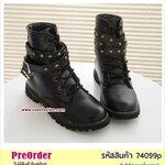 Preorder 74099p รองเท้าหุ้มส้นแฟชั่น 34-39